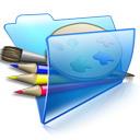 蓝色文件夹图标下载15