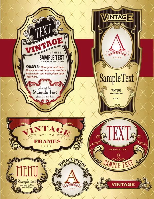 欧式酒瓶标贴_欧式酒瓶标贴模板