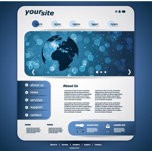网站设计模板矢量素材