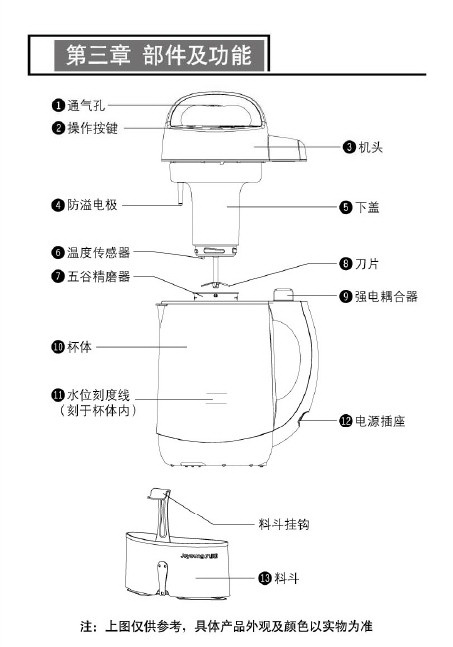 九阳dgwdj13b-c102sg豆浆机使用说明书