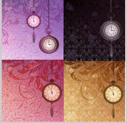 复古时钟花纹
