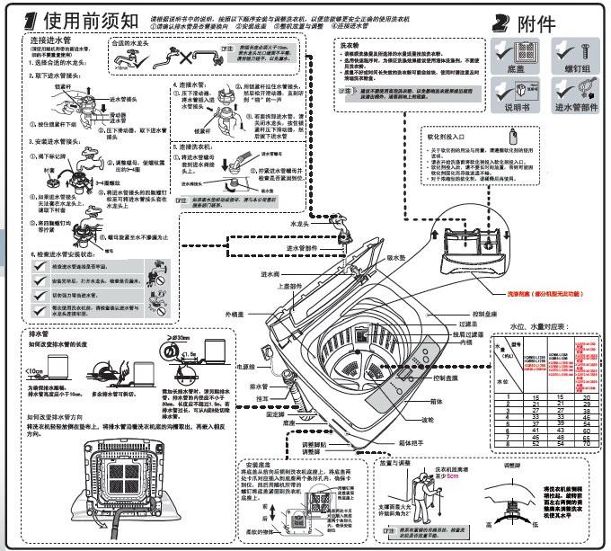 海尔xqb80-m12688洗衣机使用说明书