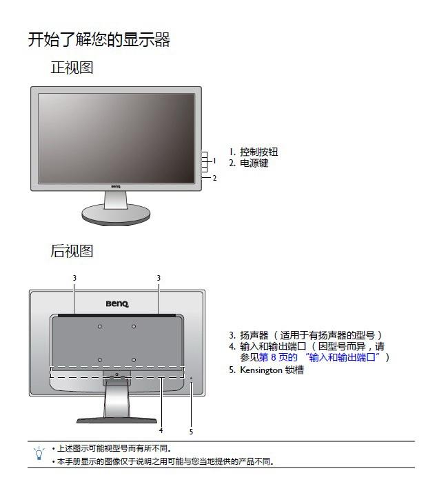 明基GL2450M液晶显示器使用说明书