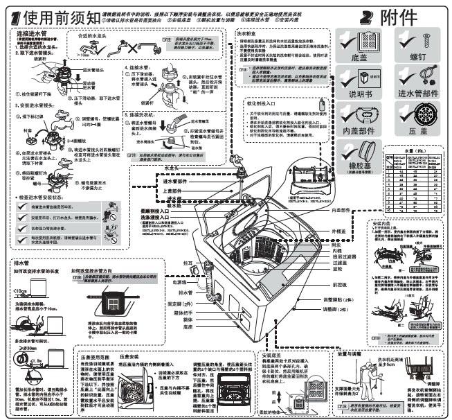 海尔XQS75-BY1328洗衣机使用说明书