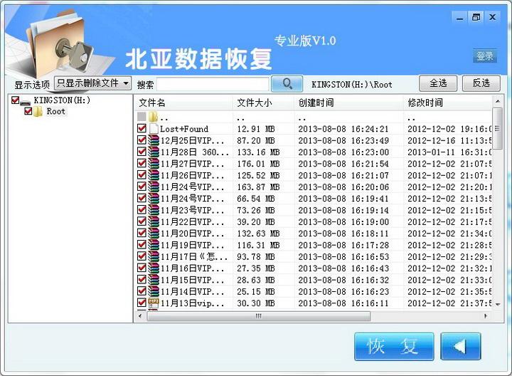 硬盘数据恢复软件WINDOWS专业版