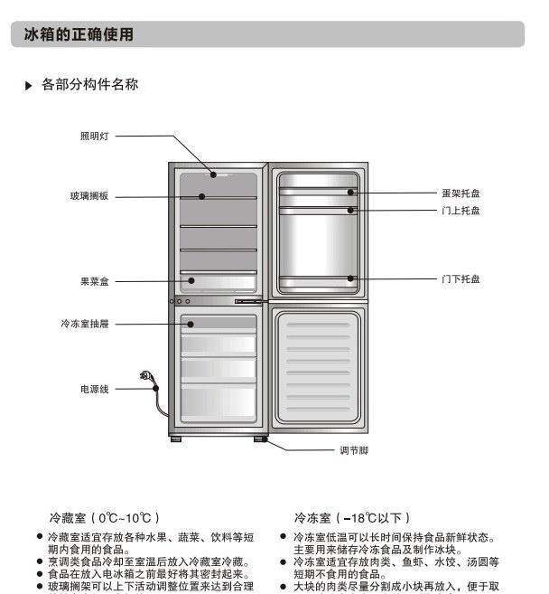 美的BCD-185QM冰箱使用说明书_美的BCD-1