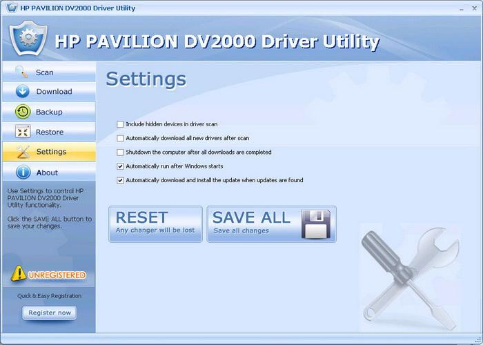 HP PAVILION DV2000 Driver Utility