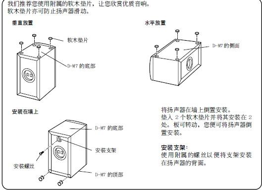 安桥扬声器sks-4600型使用说明书