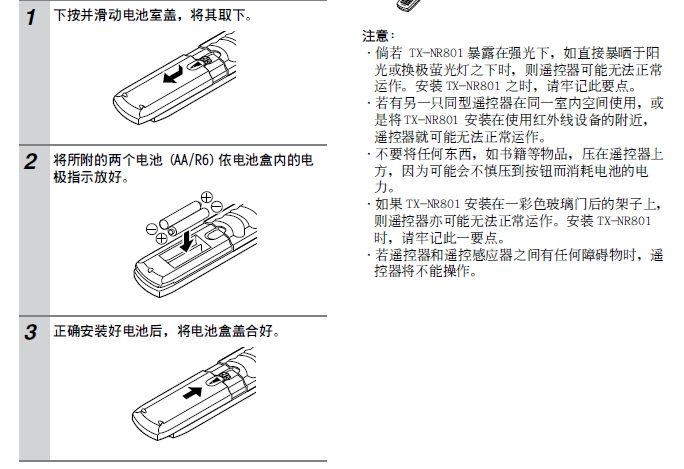 安桥AV接收机TX-NR900型使用说明书