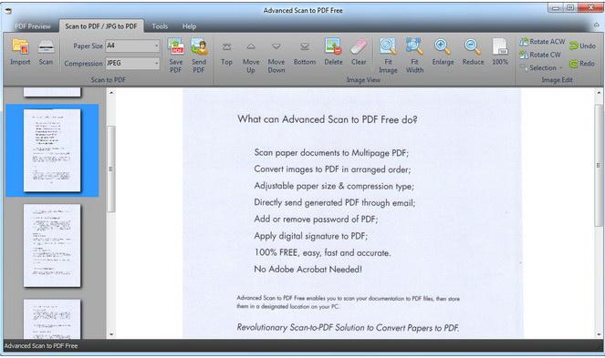 Advanced Scan to PDF Free
