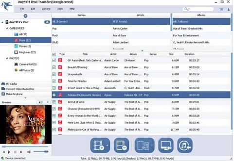 AnyMP4 iPod Transfer