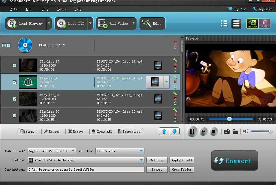 Aiseesoft Blu-Ray to iPad Ripper