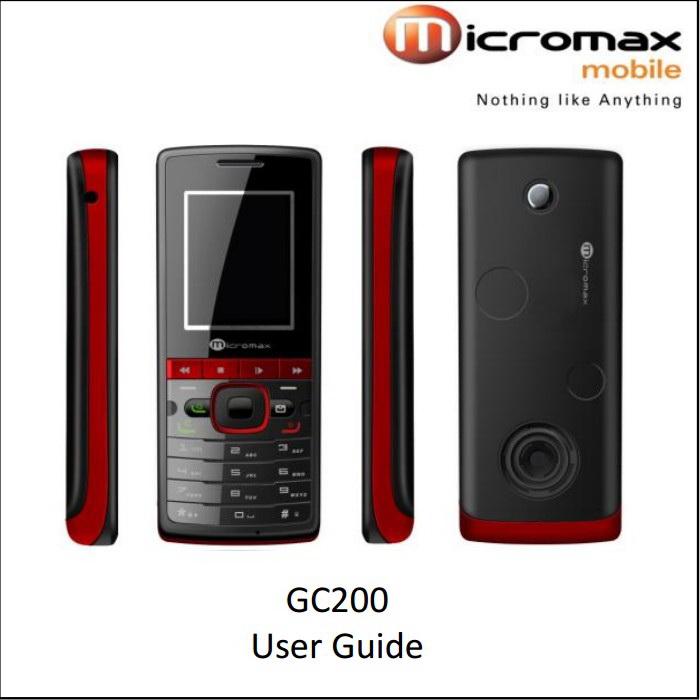 Micromax GC200手机说明书