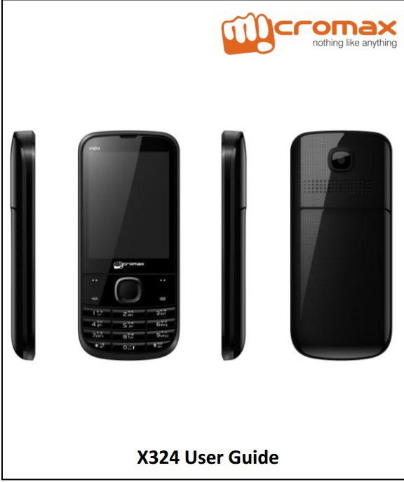 Micromax X324手机说明书