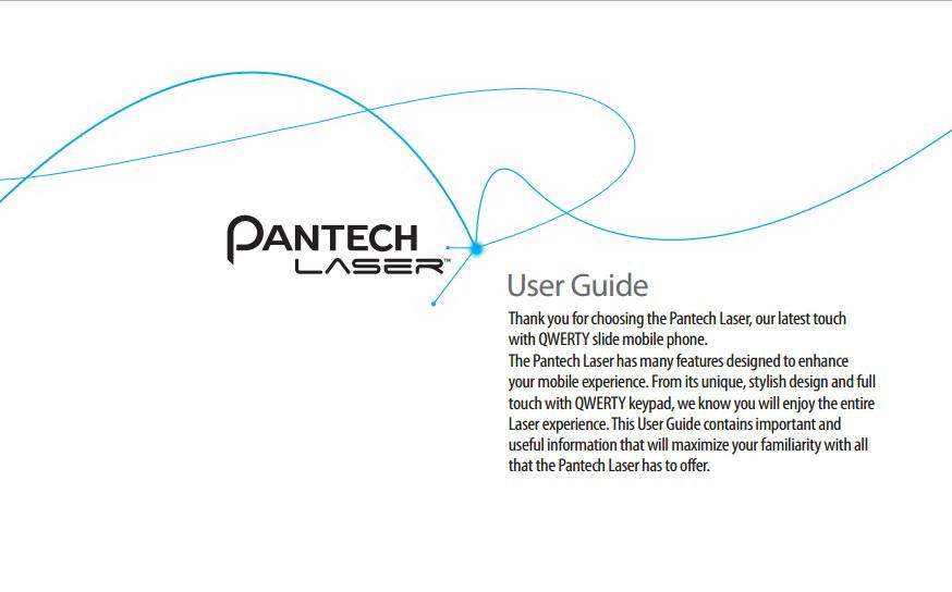 泛泰Laser手机说明书