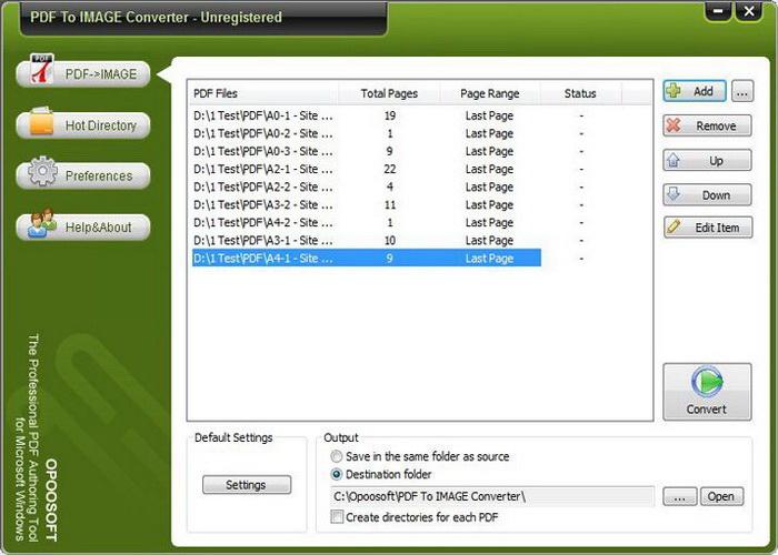 Opoosoft PDF To IMAGE GUI Command Line