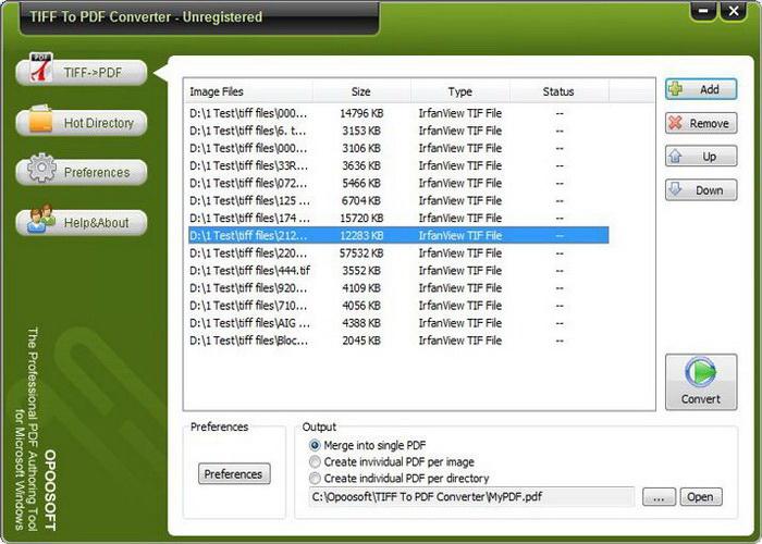 Opoosoft TIFF To PDF ( Command Line )