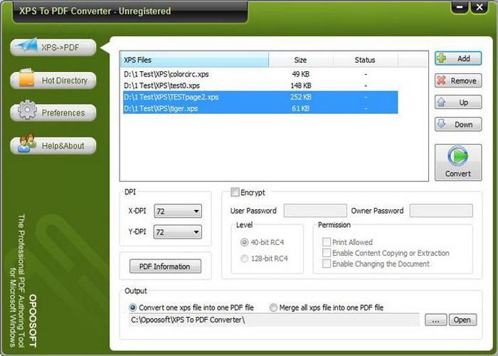 Opoosoft XPS To PDF ( GUI + Command Line )