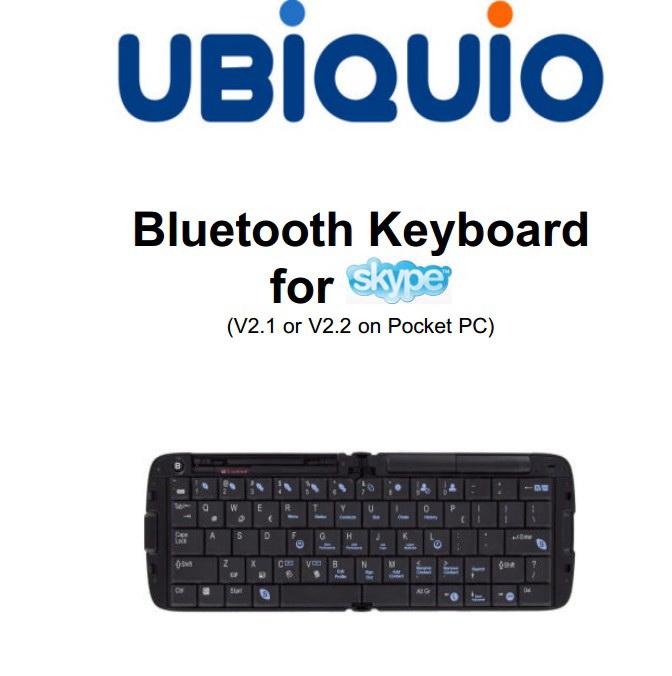 UBiQUiO BT Keyboard手机说明书