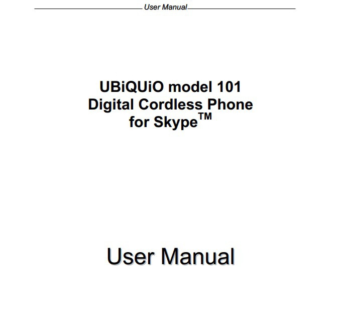 UBiQUiO 101手机说明书