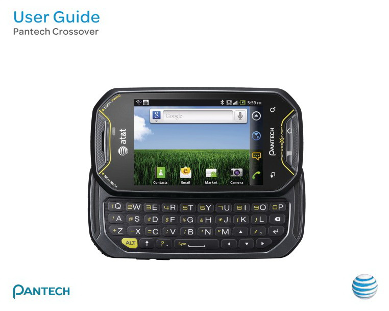 泛泰 Pantech Crossover手机说明书