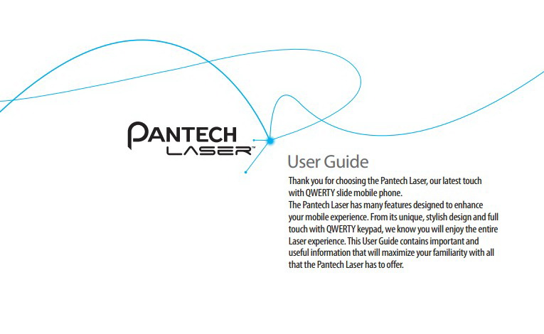 泛泰 Laser手机说明书
