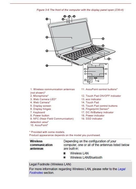 东芝TECRA Z40-A笔记本电脑说明书