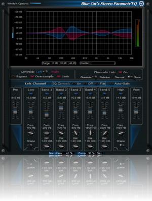 Blue Cat-s Stereo Parametr'EQ For Mac AAX