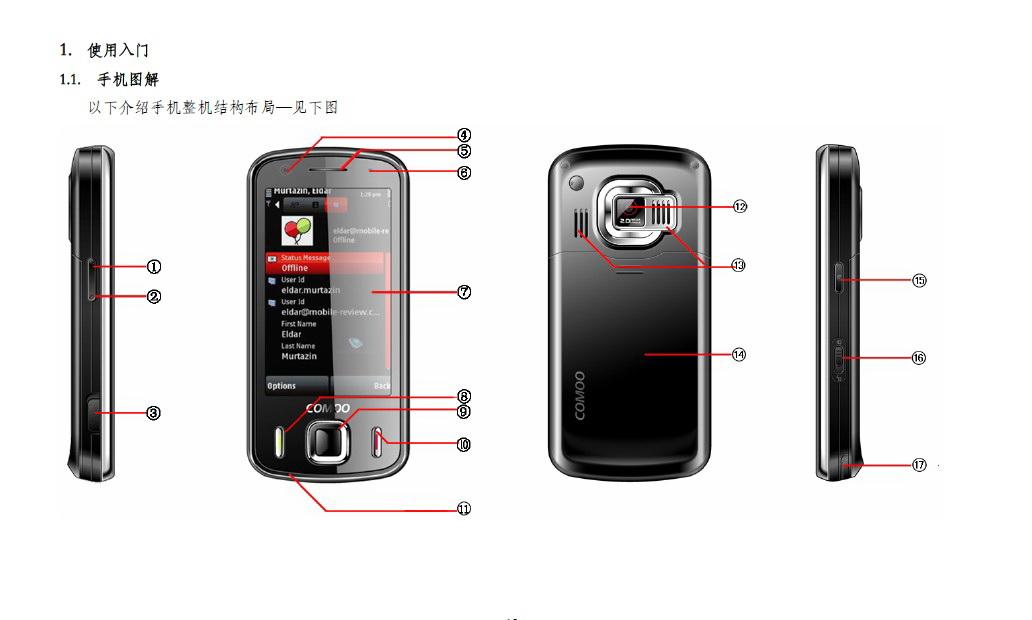 港利通手机P8000型使用说明书