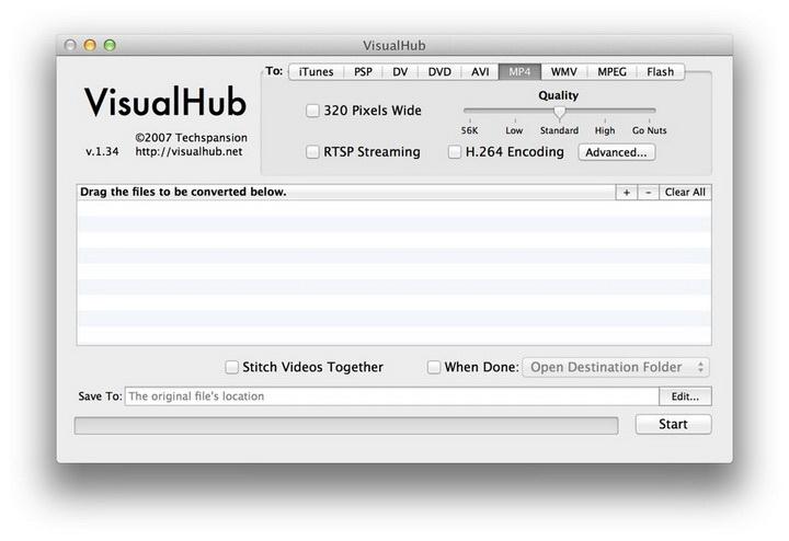VisualHub for MAC