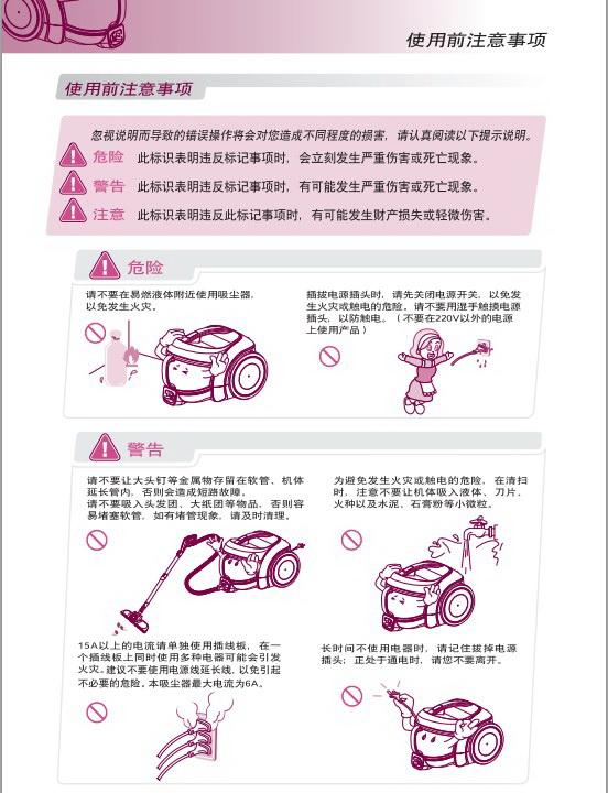 LG V-CE661HTV吸尘器说明书