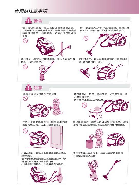 LG V-CE641HTG吸尘器说明书