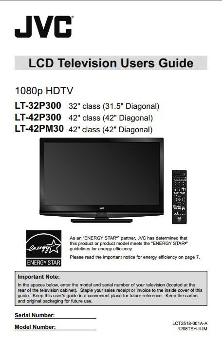 JVC胜利LT-42P300液晶电视使用手册