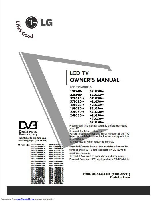 LG 47LG5010-ZD液晶电视用户手册