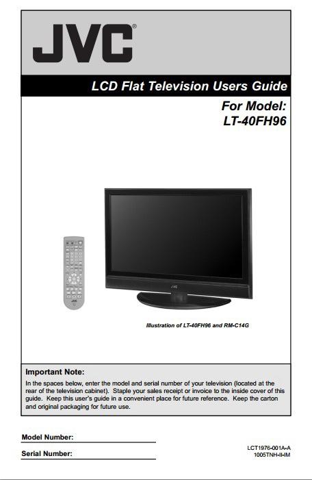 JVC胜利LT-40FH96液晶平板电视使用手册