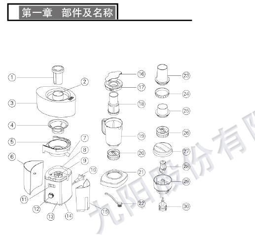 九阳榨汁机JYZ-B511型使用说明书