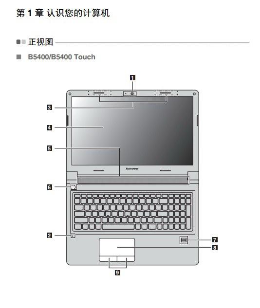 联想Lenovo B5400笔记本电脑说明书