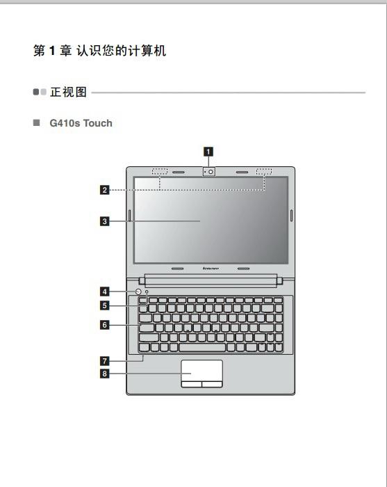联想Lenovo G510s Touch笔记本电脑说明书