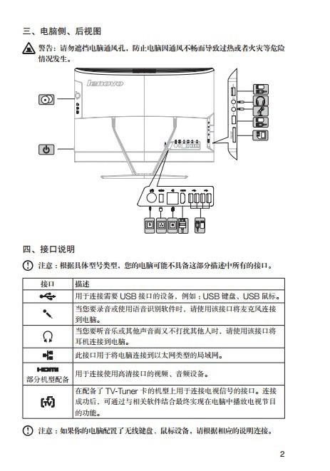 联想Lenovo C365电脑快速安装指南