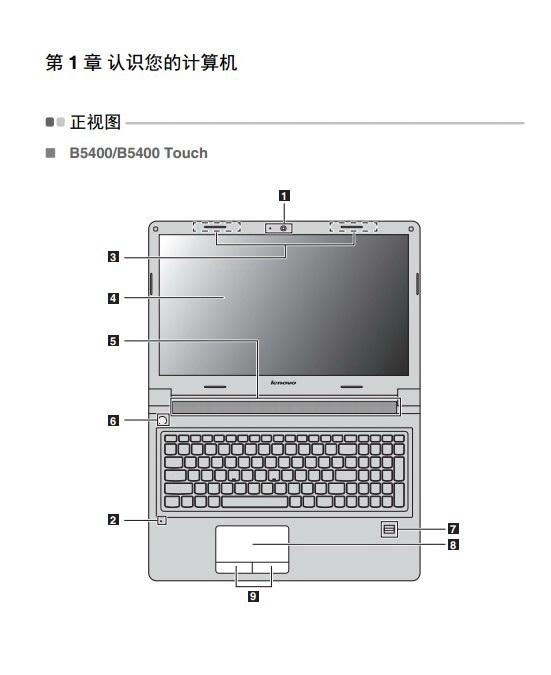 联想B5400 touch笔记本电脑使用说明书