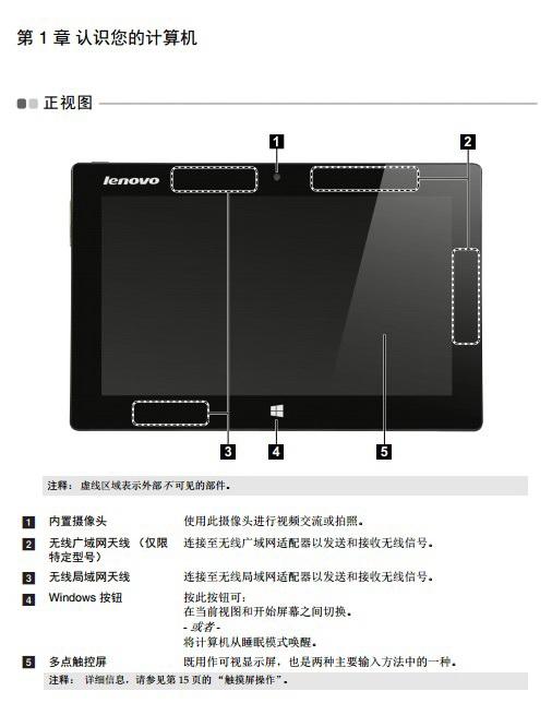 联想Lenovo IdeaPad Miix 10笔记本电脑说明书