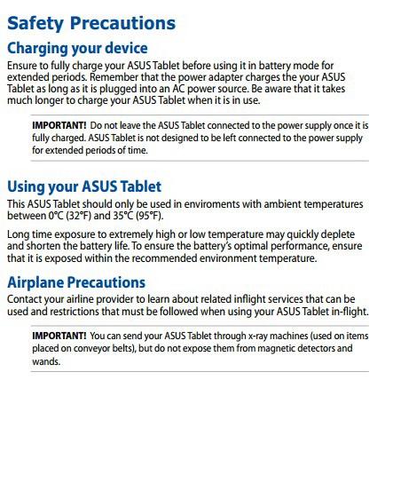 华硕The New ASUS Transformer Pad E8316手机说明书