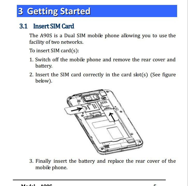 Micromax A90S手机说明书