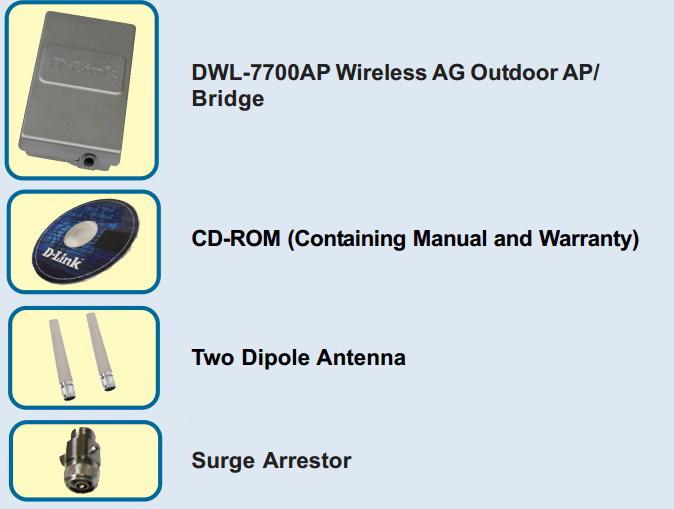 D-Link DWL-7700AP无线接入点快速安装说明书