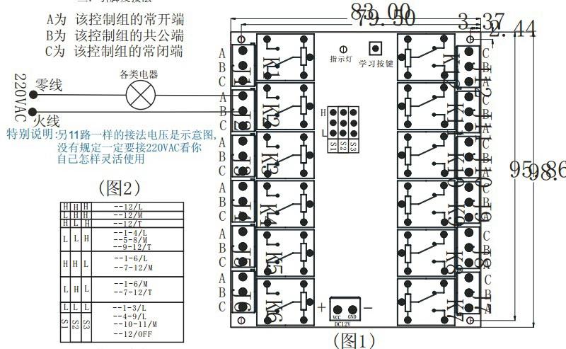 TAD-K12无线控制器使用说明