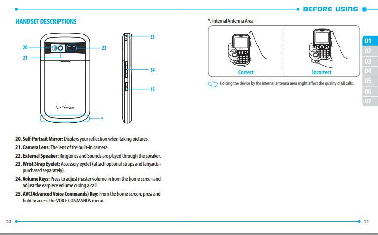 泛泰 Pantech Caper手机说明书