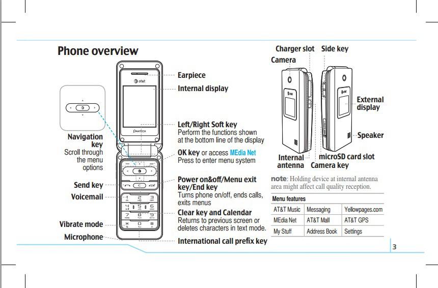 泛泰 C610手机说明书