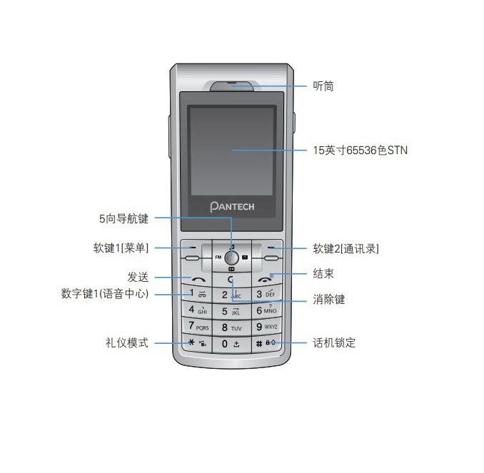 泛泰PG-1400 手机说明书