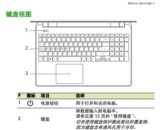 宏基Aspire E5-571笔记本电脑使用说明书