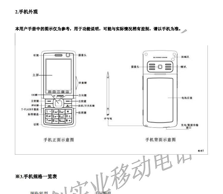 联创LC0705手机使用说明书